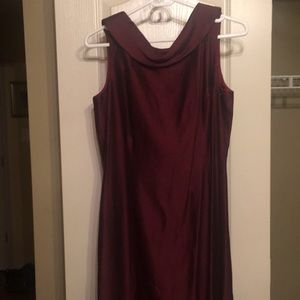 Dresses & Skirts - Vintage Burgundy gown; A line cut; no stretch;
